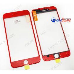 แผ่นกระจกหน้า+ขอบ+OCA - iPhone 6Plus สีแดง