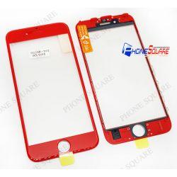 แผ่นกระจกหน้า+ขอบ+OCA - iPhone 6s สีแดง