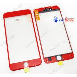 แผ่นกระจกหน้า+ขอบ+OCA - iPhone 6s Plus สีแดง