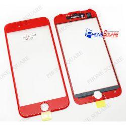 แผ่นกระจกหน้า+ขอบ+OCA - iPhone 7 สีแดง