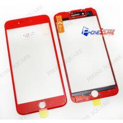 แผ่นกระจกหน้า+ขอบ+OCA - iPhone 7 Plus สีแดง