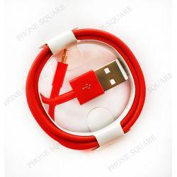 สาย USB - iPhone 7 สีแดง // งานเหมือนแท้